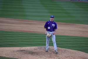 Brendan Nail after striking out the final batter. Photo by Rebecca Ross